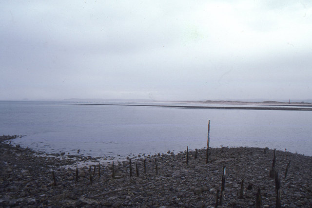 Holy Island: looking south across the Harbour