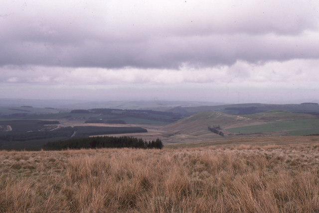 Carter Bar: looking north into Scotland
