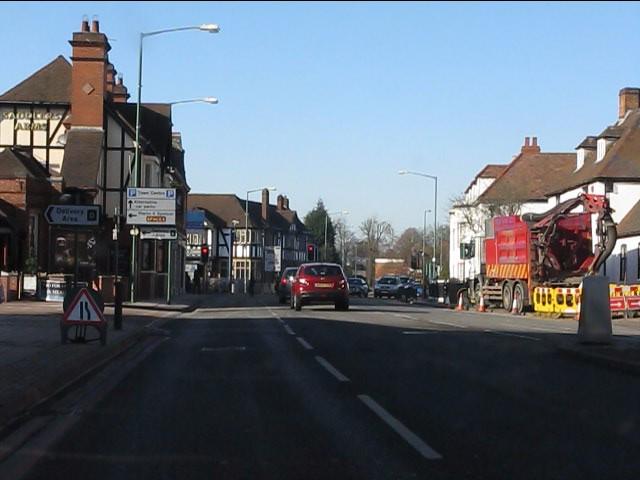Solihull - Warwick Road nearing Poplar Road