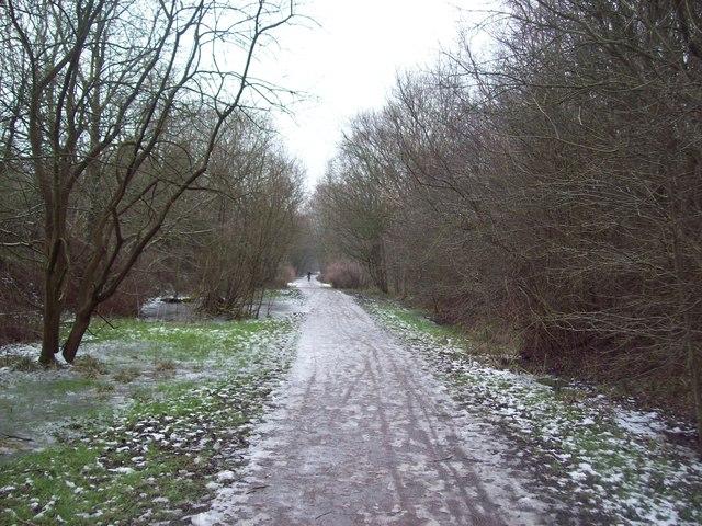 Sett Valley Trail Winter Scene
