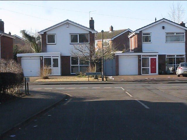 Swanswell Road houses from Gunns Way