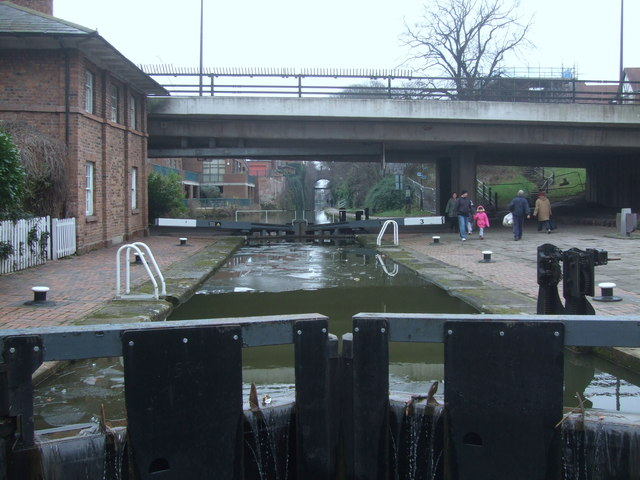 Upper lock at Northgate Staircase Lock Chester Canal
