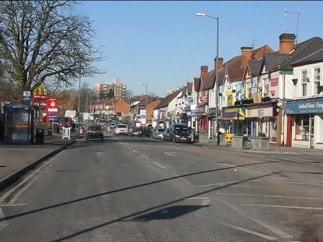 Local shops, Warwick Road (A41)