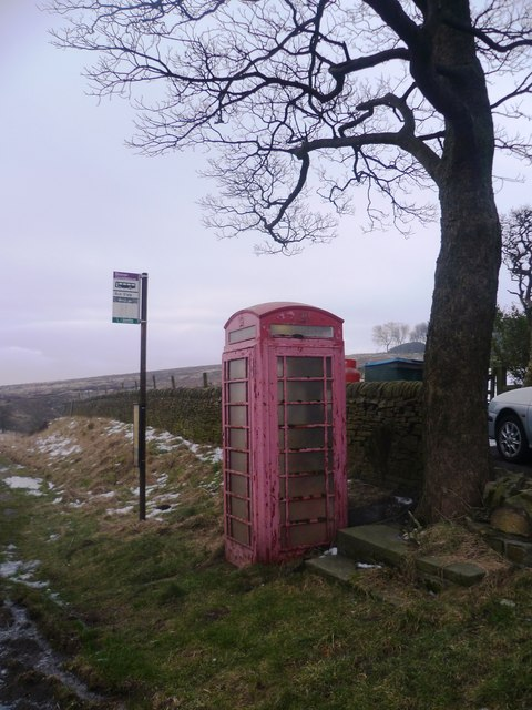 Telephone Box on the A624 (next to The Grouse Inn)