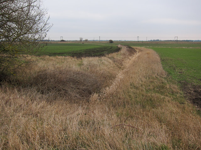 Ditch and railway