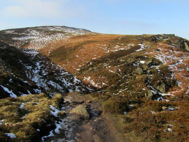 Ebor Way approaching Coldstones Beck