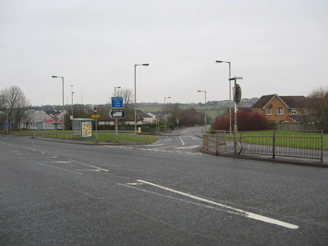 Junction of A73 and Bowhousebrae Road at Chapelhall in North Lanarkshire