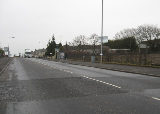 A73 running north through Rawyards at Airdrie