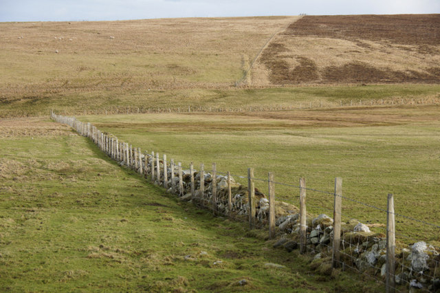 Fence at Hannigarth, Unst