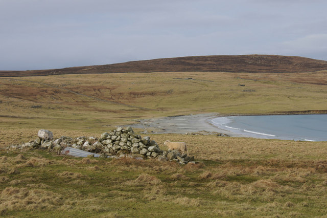 View to the Easting beach from below Hannigarth