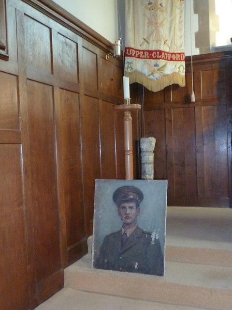 All Saints, Upper Clatford: military portrait