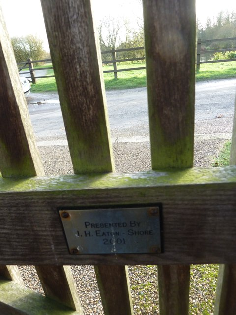 All Saints, Upper Clatford: plaque on the lych gate