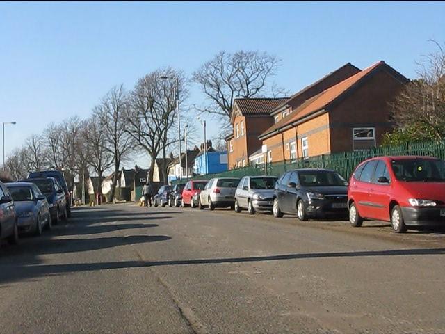 Yardley Green Road at the staff entrance to Heartlands Hospital