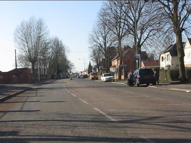 Yardley Green Road at the entrance to Yardley Green Hospital