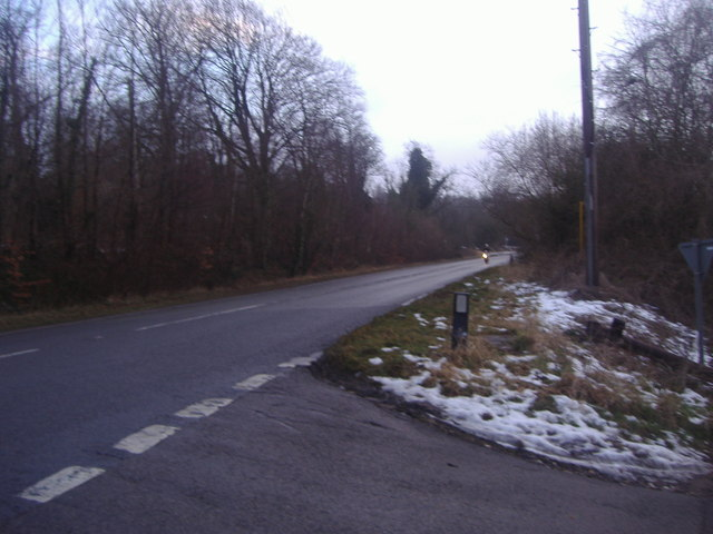 The A225 from Castle Road, Lullingstone