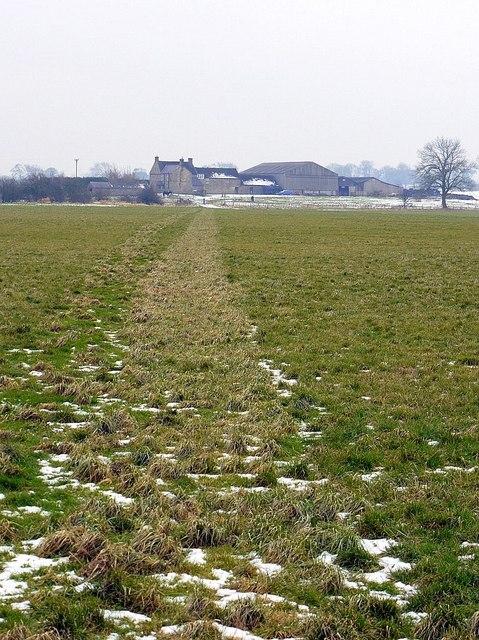 Footpath north-east of Thornham Hill Farm