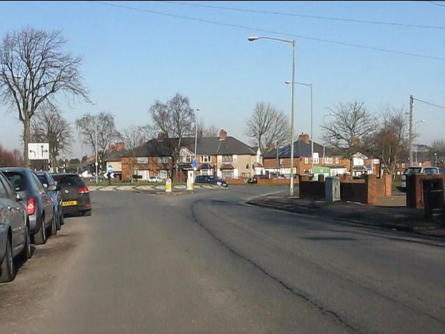 Belcher's Lane at Bordesley Green roundabout