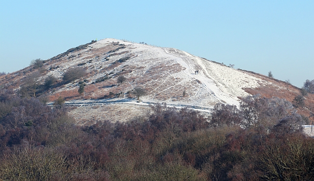 Black Hill painted white, the Malvern Hills