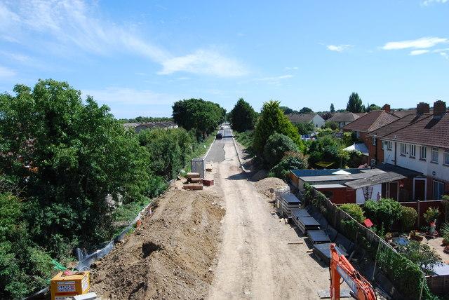 Fareham to Gosport BRT - View from Gregson Avenue Bridge (28)