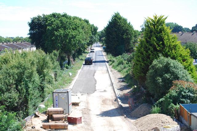 Fareham to Gosport BRT - View from Gregson Avenue Bridge (29)