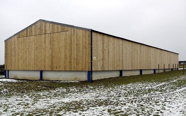 New barn near Butcher Hill Farm