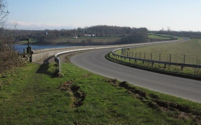 Road across Roadford Dam