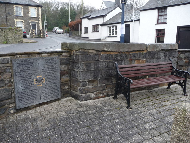 Memorial plaque to Lewis Pugh Evans at Llanbadarn Fawr