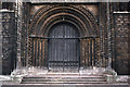 SK9771 : Lincoln Cathedral - Central West Door by David Wright