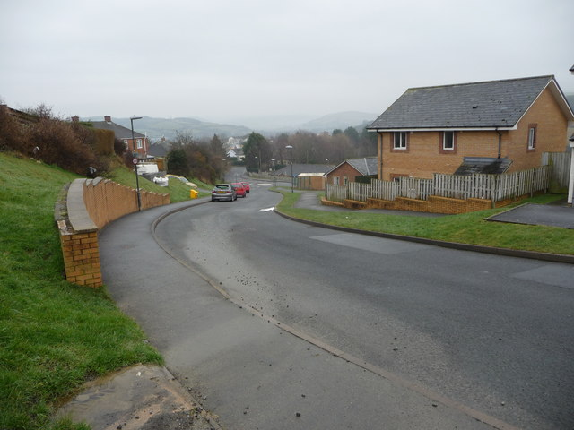 Part of a housing estate in Penparcau