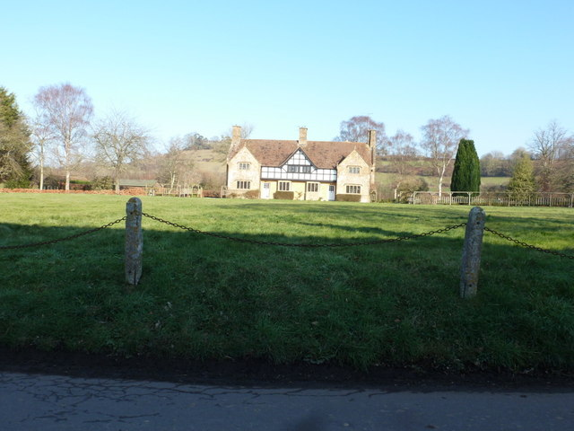Nether Compton: village green and two cottages