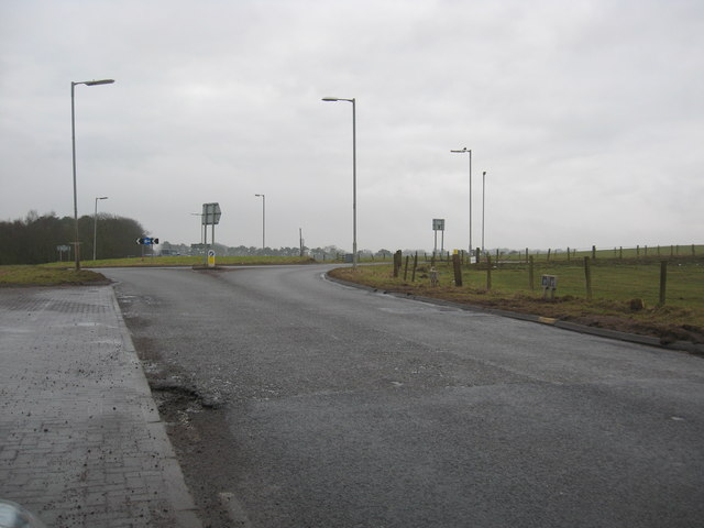 The Harelaw roundabout in South Lanarkshire