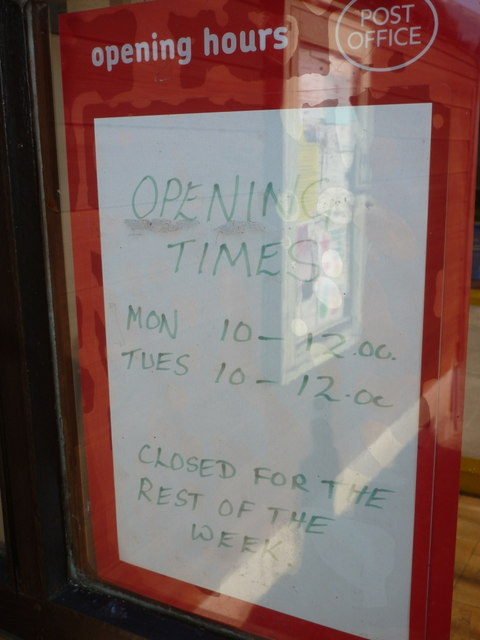 Trent: post office opening hours