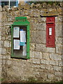 ST5920 : Adber: postbox № DT9 23 and noticeboard by Chris Downer