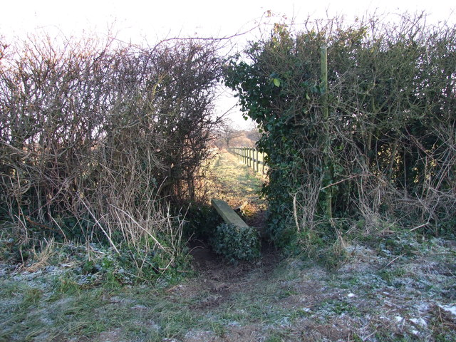 Footpath Through A Hole In The Hedge