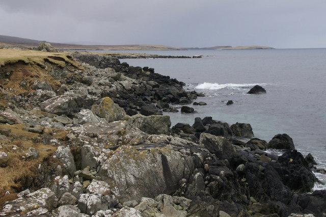 Coastline south of Kirk Geo, Framgord