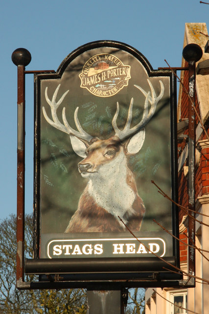 Sign of The Stags Head