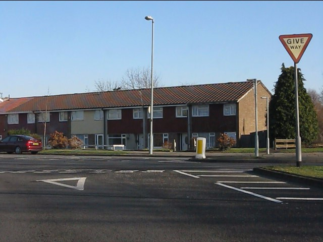 Housing on Bromford Drive at its junction with Bromford Road