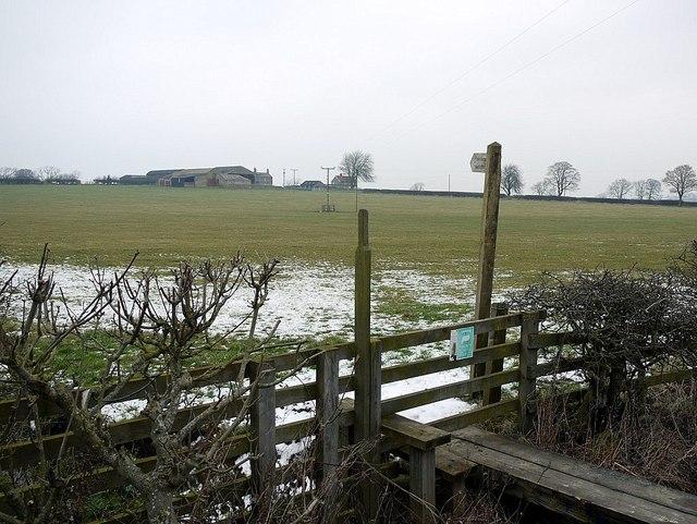 Footpath to Butcher Hill Farm