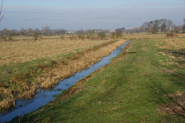 Drainage channel on Radford Meadows