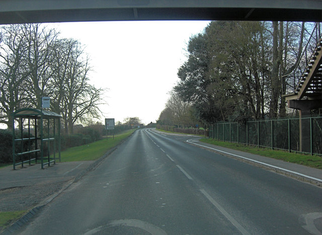A415 and the entrance to the European School