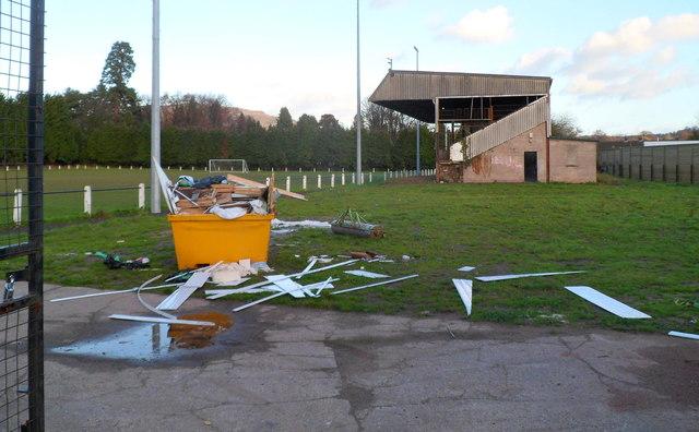 Stand, Pen-y-pound Stadium, Abergavenny
