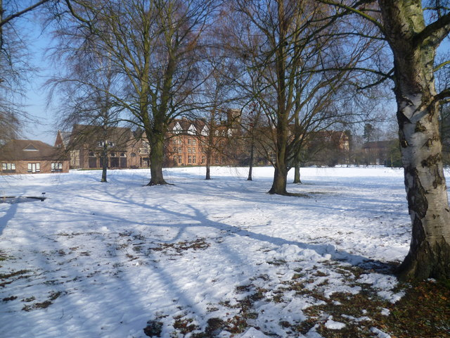 Homerton College in the snow