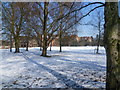 TL4656 : Snowy scene at Homerton College by Marathon