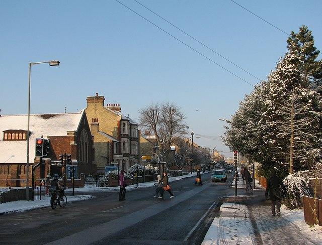 Winter morning in Cherry Hinton Road