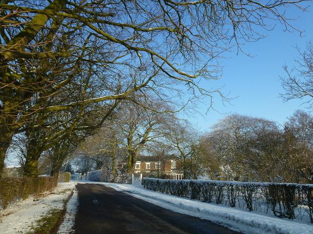 Winter snow near Hartley House