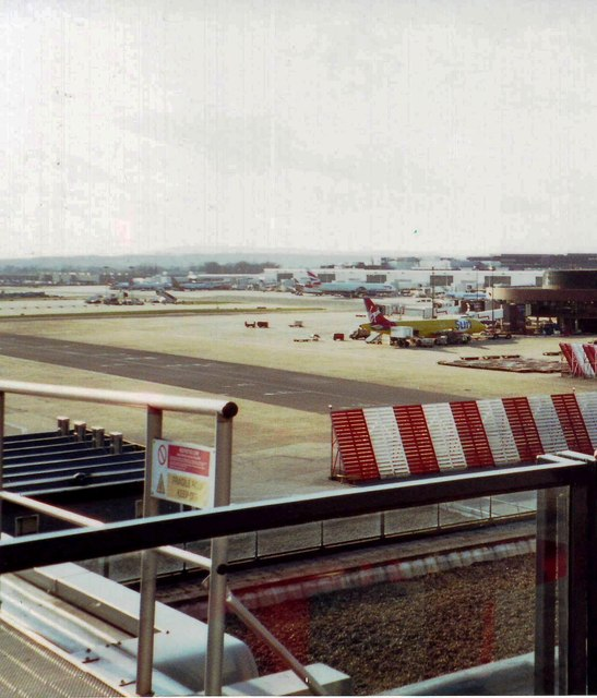 Gatwick airport from viewing area