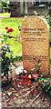 NT2573 : Grave of Greyfriars Bobby, Greyfriars Kirkyard, Edinburgh by nick macneill