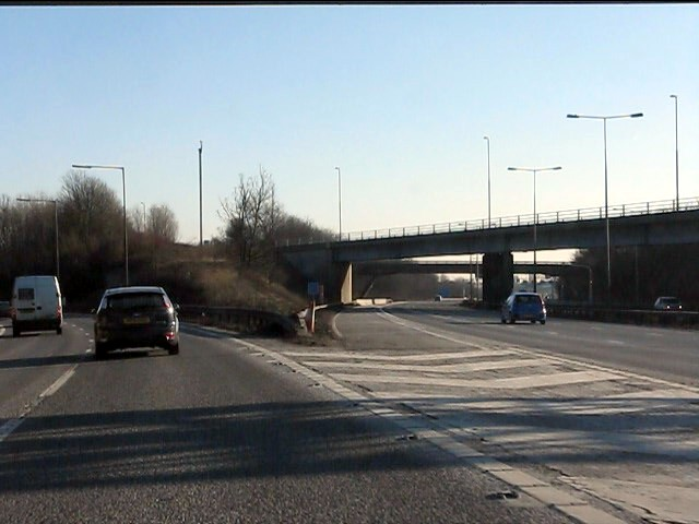 Parting of the ways, M6 junction 4a