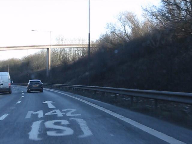 Footbridge over the M6 to M42 slip road