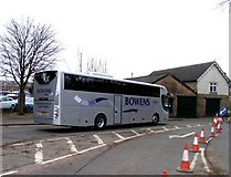 SK8508 : Rail Action at Oakham 12:Alternative bus service by Andrew Tatlow